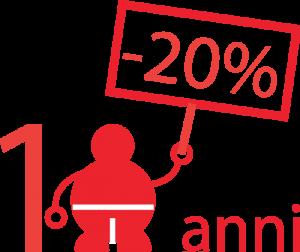 20 percento sconto per ristoranti